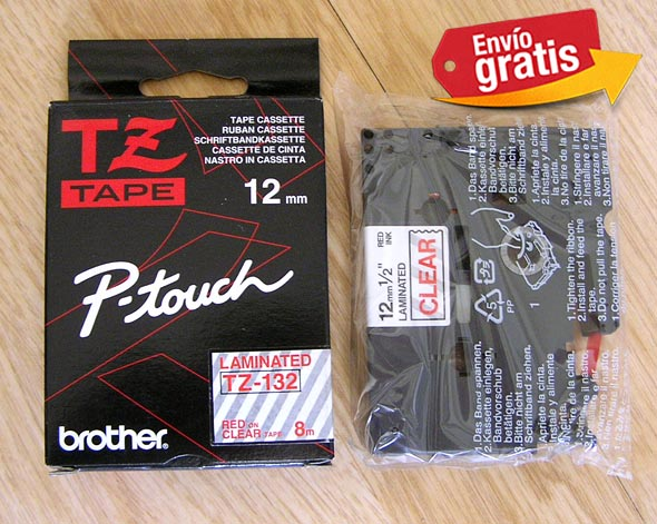 CINTA PARA ROTULADORA ELECTRONICA BROTHER TZ-132