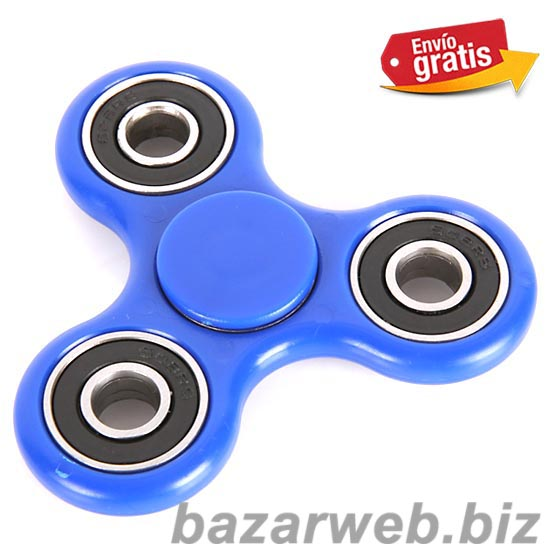 FIDGET SPINNER AZUL ANTI STRESS COLOR AZUL