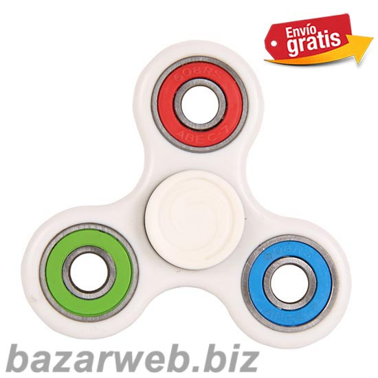FIDGET SPINNER ANTI STRES BLANCO BICOLOR