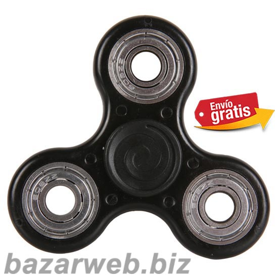 FIDGET SPINNER ANTI STRES COLOR NEGRO