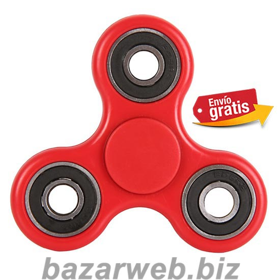 FIDGET SPINNER ANTI STRES COLOR ROJO