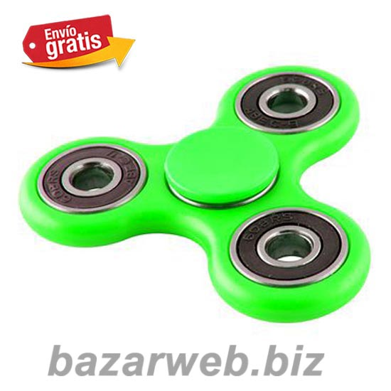 FIDGET SPINNER ANTI STRES COLOR VERDE