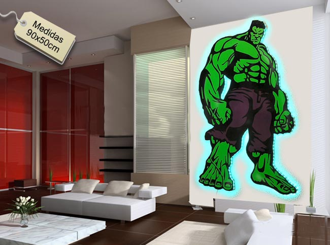 Hulk la masa lampara luces Led de pared