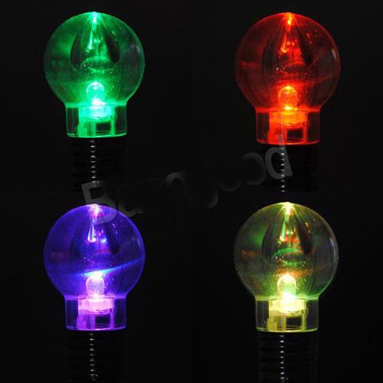 Llavero con forma de bombilla luces colores bazarweb - Luces led de colores ...