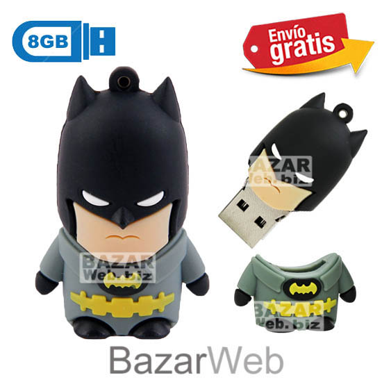 USB MEMORIA FLASH PENDRIVE BATMAN 8GB