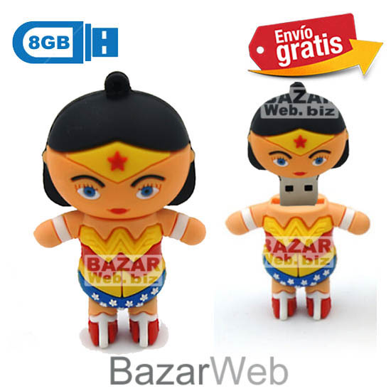 USB MEMORIA FLASH PENDRIVE SUPERWOMAN 8GB