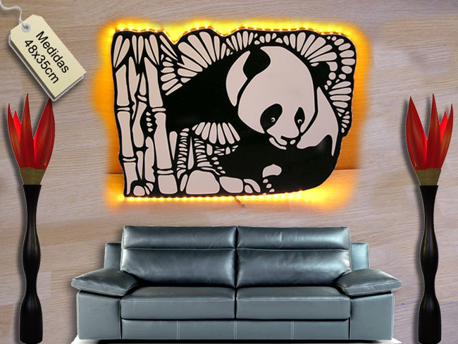 OSO PANDA LAMPARA LUCES LEDS