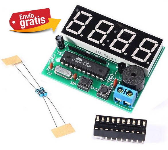 Reloj digital kit electronico 4 Bits