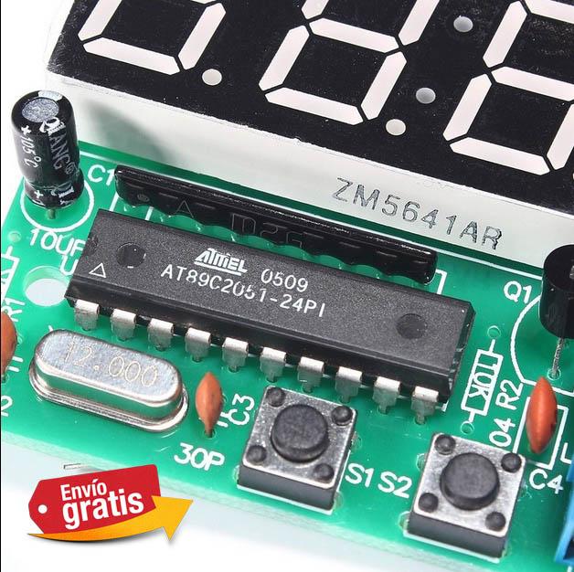 4f58d723b03e Reloj digital kit electronico 4 Bits Codigo    RELOJ DIGITAL 4 BITS  .  click sobre la imagen para ampliar y ver mas fotos