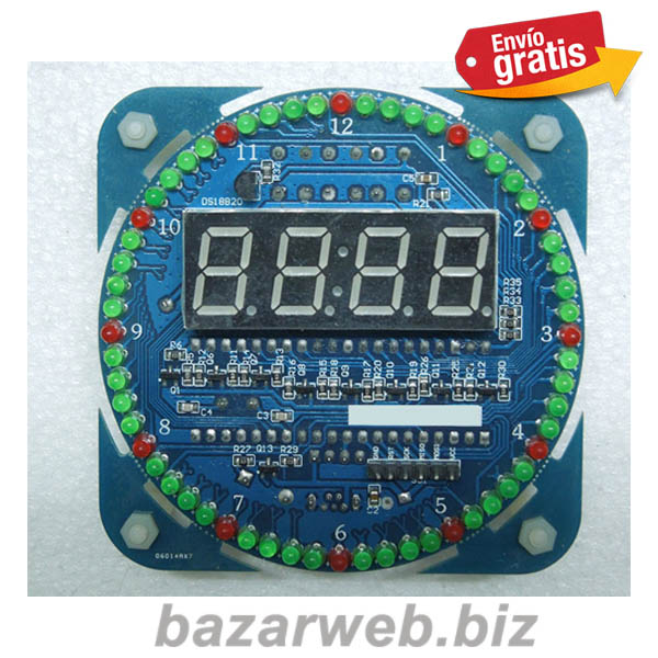 RELOJ ELECTRONICO DIGITAL PARA MONTAR EN KIT