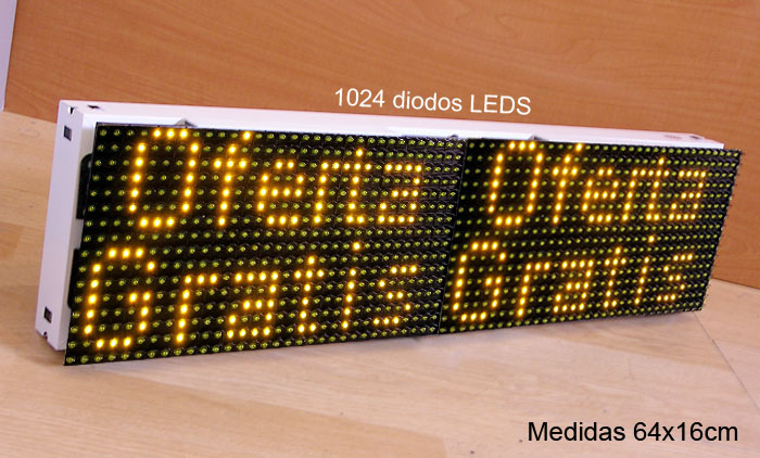 CARTEL LETRERO ROTULO LED PROGRAMABLE MEDIDAS 64x16cm