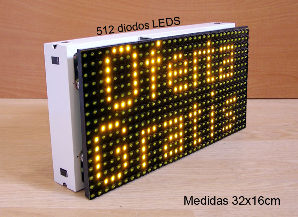 CARTEL LETRERO ROTULO LED PROGRAMABLE MEDIDAS 32x16cm