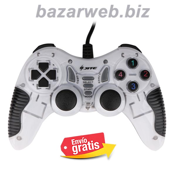 GAMEPAD JOYSTICK USB PC WINDOWS ANDROID JITE BLANCO